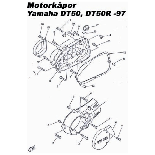 Yamaha Dt50mx Wiring Diagram : Pin motorkåpor dt r rinab
