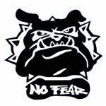 Dekal No Fear Bulldog ansikte