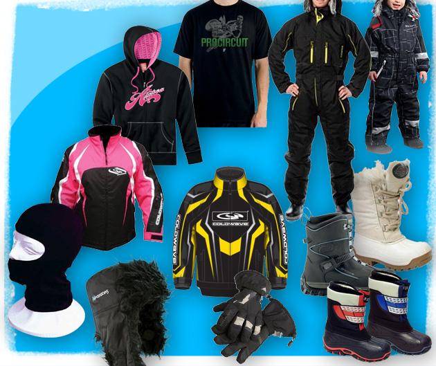 Bild på olika klädesplagg till salu hos RINAB.