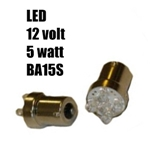 LED lampa - 5 watt - BA15S