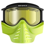Facemask SCOTT 83X Safari Svart/Gul (Gul lins)