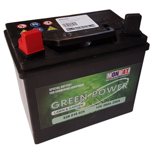 Batteri Green Power 28Ah (+/-)